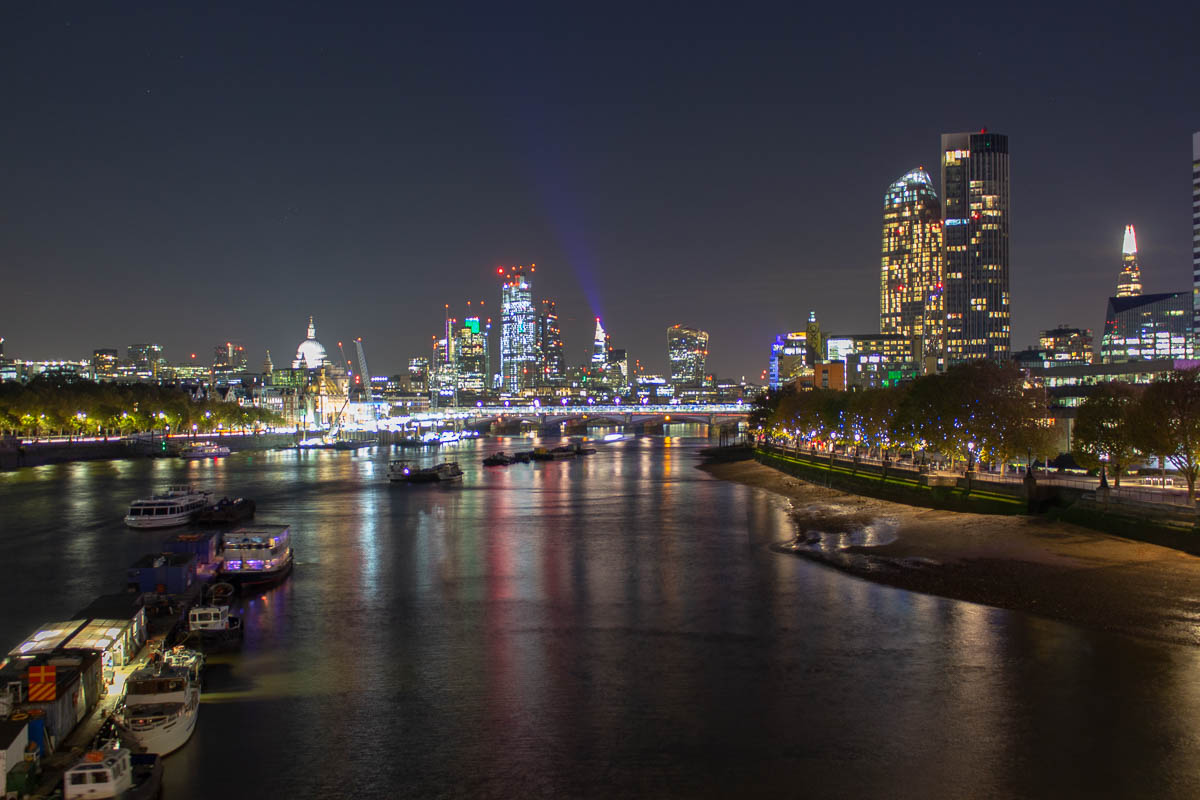 London Skyline Nacht